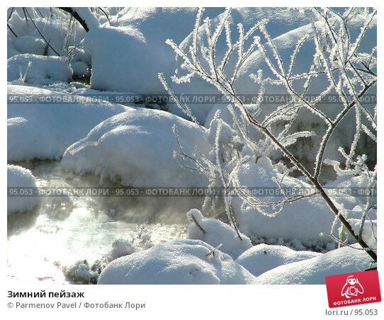 Зимний пейзаж, фото № 95053, снято 12 февраля 2007 г. (c) Parmenov Pavel / Фотобанк Лори