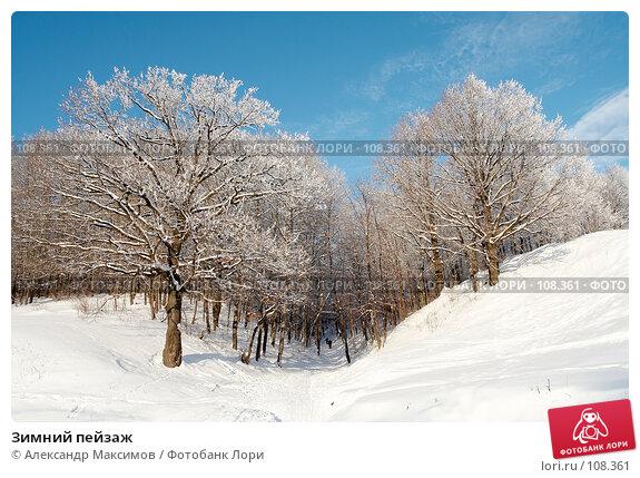 Зимний пейзаж, фото № 108361, снято 31 декабря 2005 г. (c) Александр Максимов / Фотобанк Лори