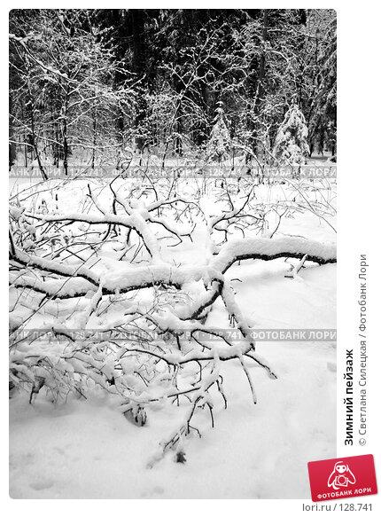 Зимний пейзаж, фото № 128741, снято 26 ноября 2007 г. (c) Светлана Силецкая / Фотобанк Лори