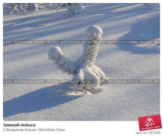 Зимний пейзаж, фото № 157673, снято 23 декабря 2007 г. (c) Владимир Ильин / Фотобанк Лори