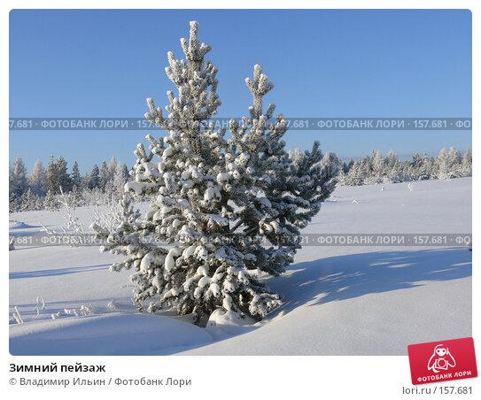Зимний пейзаж, фото № 157681, снято 23 декабря 2007 г. (c) Владимир Ильин / Фотобанк Лори