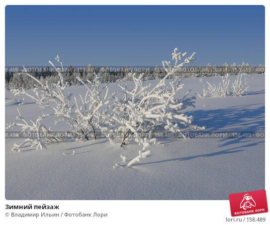 Зимний пейзаж, фото № 158489, снято 23 декабря 2007 г. (c) Владимир Ильин / Фотобанк Лори