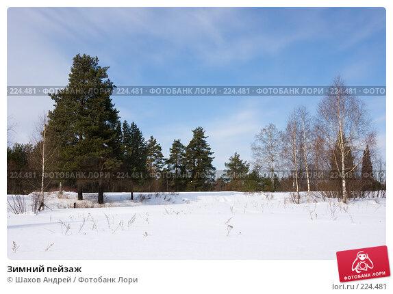 Зимний пейзаж, фото № 224481, снято 15 марта 2008 г. (c) Шахов Андрей / Фотобанк Лори