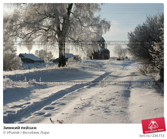 Зимний пейзаж, фото № 234113, снято 30 ноября 2004 г. (c) VPutnik / Фотобанк Лори