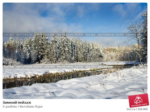Зимний пейзаж, фото № 334905, снято 5 ноября 2007 г. (c) podfoto / Фотобанк Лори