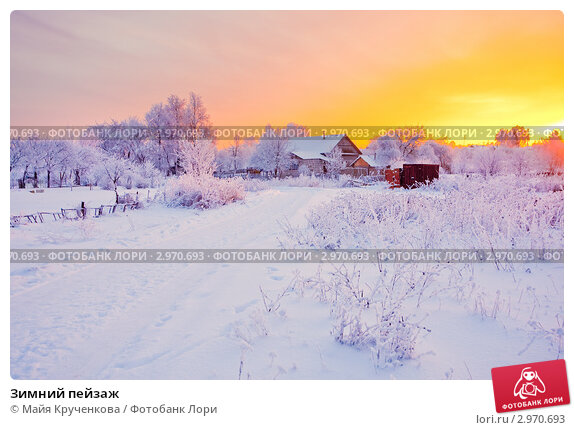 Купить «Зимний пейзаж», фото № 2970693, снято 6 декабря 2010 г. (c) Майя Крученкова / Фотобанк Лори