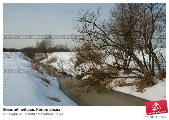 Купить «Зимний пейзаж. Конец зимы», фото № 313977, снято 10 марта 2008 г. (c) Владимир Воякин / Фотобанк Лори