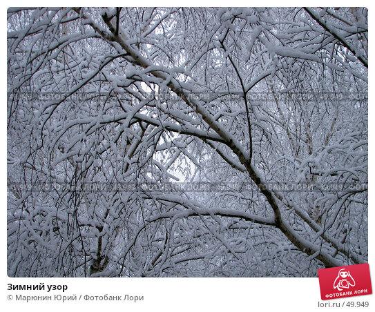 Купить «Зимний узор», фото № 49949, снято 9 января 2007 г. (c) Марюнин Юрий / Фотобанк Лори