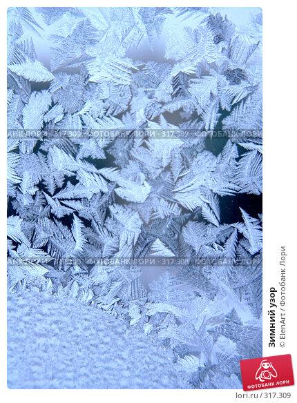 Купить «Зимний узор», фото № 317309, снято 22 марта 2018 г. (c) ElenArt / Фотобанк Лори