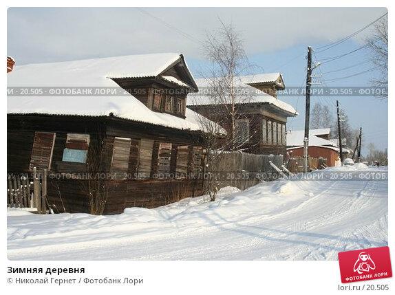 Зимняя деревня, фото № 20505, снято 28 февраля 2007 г. (c) Николай Гернет / Фотобанк Лори
