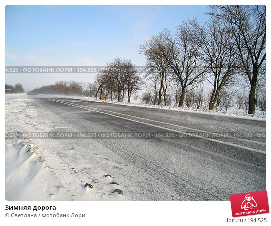Купить «Зимняя дорога», фото № 194525, снято 21 ноября 2017 г. (c) Светлана / Фотобанк Лори