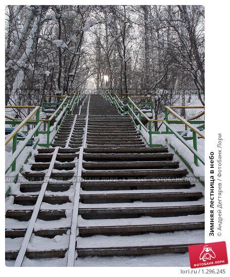 Купить «Зимняя лестница в небо», фото № 1296245, снято 16 февраля 2008 г. (c) Андрей Дегтярев / Фотобанк Лори