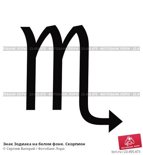 Купить «Знак Зодиака на белом фоне. Скорпион», иллюстрация № 23455473 (c) Сергеев Валерий / Фотобанк Лори