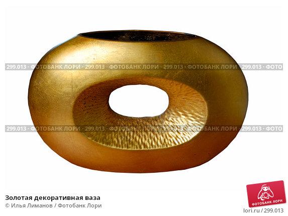 Купить «Золотая декоративная ваза», фото № 299013, снято 7 марта 2007 г. (c) Илья Лиманов / Фотобанк Лори