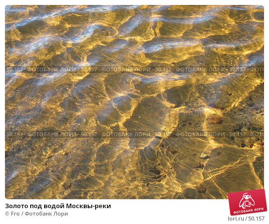 Золото под водой Москвы-реки, фото № 50157, снято 30 октября 2005 г. (c) Fro / Фотобанк Лори