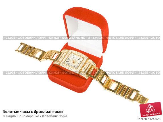 Золотые часы с бриллиантами, фото № 124025, снято 3 ноября 2007 г. (c) Вадим Пономаренко / Фотобанк Лори