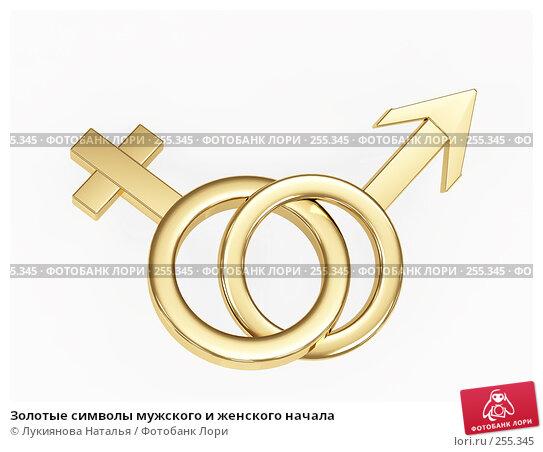 Золотые символы мужского и женского начала, иллюстрация № 255345 (c) Лукиянова Наталья / Фотобанк Лори
